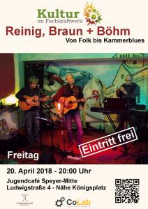 Flyer Reinig-Braun-Böhm Voon Folk bis Kammerblues